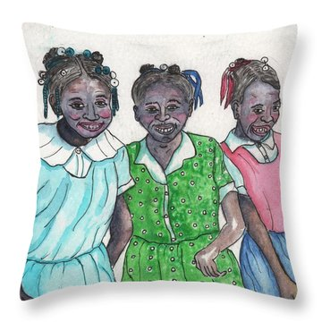 Shy Girls From South Alabama Throw Pillow