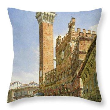 Siena, The Palazzo Publico, Town Hall Throw Pillow