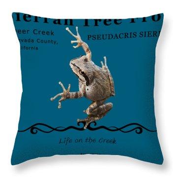 Sierran Tree Frog Pseudacris Sierra Throw Pillow