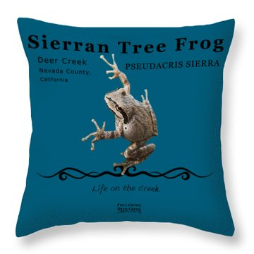 Sierran Tree Frog Pseudacris Sierra Throw Pillow