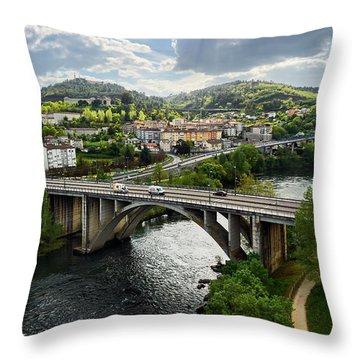 Sights From The Millennium Bridge Throw Pillow