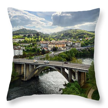 Sights From The Millennium Bridge Throw Pillow