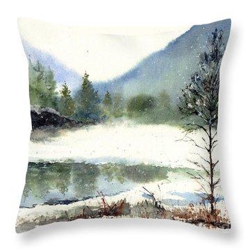 Silent Exile Throw Pillow