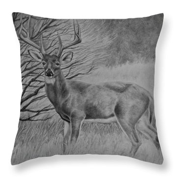 Silent Majesty Throw Pillow