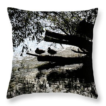 Silhouette Ducks #h9 Throw Pillow