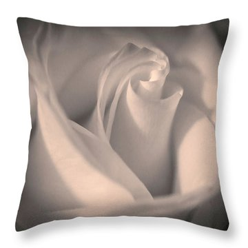 Silky Pastel Rose Throw Pillow