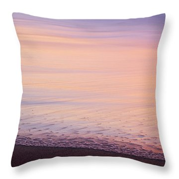 Throw Pillow featuring the photograph Silky Sea by Whitney Goodey