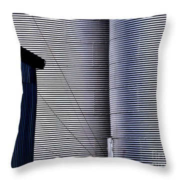 Silo Door Throw Pillow