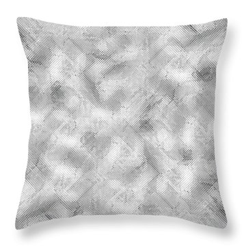 Throw Pillow featuring the photograph Silver Metal by Top Wallpapers