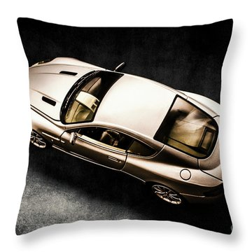 Silver Styling Throw Pillow