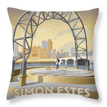 Simon Estes Amphitheater Throw Pillow