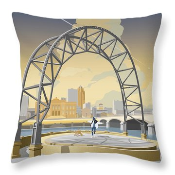 Simon Estes Amphitheater Throw Pillow