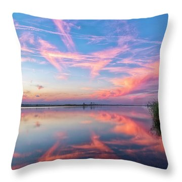 Throw Pillow featuring the photograph Simple Reflections by Russell Pugh