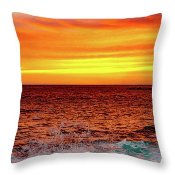 Simple Warm Splash Throw Pillow