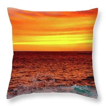 Simple Warm Splash Throw Pillow
