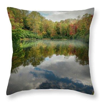 Sims Pond Blowing Rock North Carolina Throw Pillow
