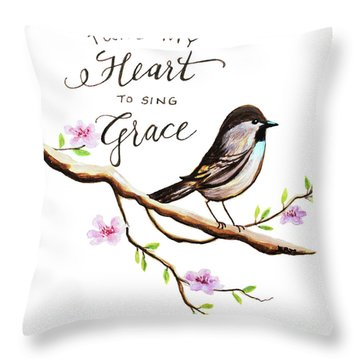Sing Grace Throw Pillow
