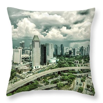Throw Pillow featuring the photograph Singapore by Chris Cousins