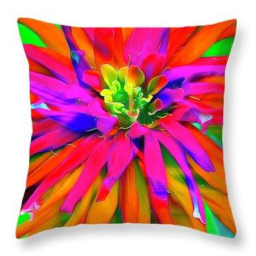 Singing Bloom Throw Pillow