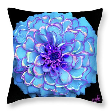 Throw Pillow featuring the digital art Singing The Blues by Cindy Greenstein
