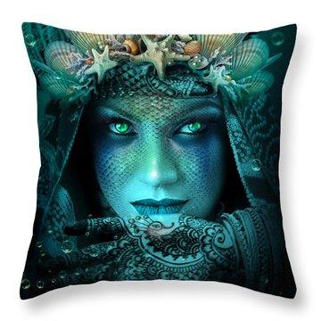 Sister Green Eyes Throw Pillow
