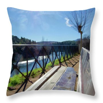 Sit And Relax Throw Pillow