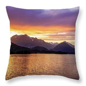 Sitka Sunrise Throw Pillow