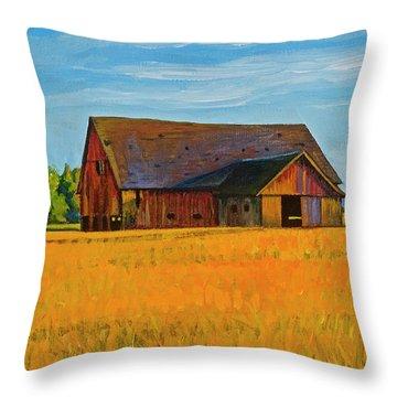 Skagit Valley Barn #9 Throw Pillow