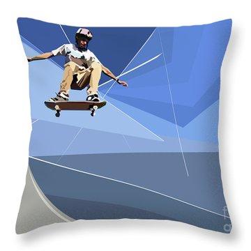 Skateboarder Throw Pillow