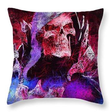 Skeletor Throw Pillow