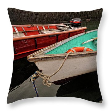 Skiffs Throw Pillow