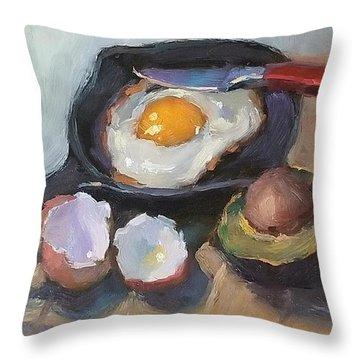 Skillet Breakfast Throw Pillow