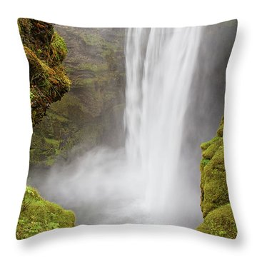 Throw Pillow featuring the photograph Skogafoss Iceland by Nathan Bush