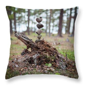 Skogstok Throw Pillow