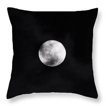 Skull Moon Throw Pillow