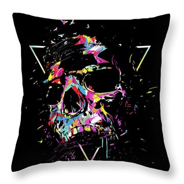 Multicolor Mixed Media Throw Pillows
