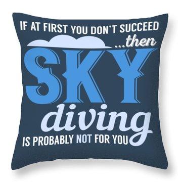 Sky Diving Throw Pillow
