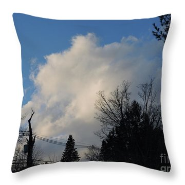 Sky In Town Throw Pillow
