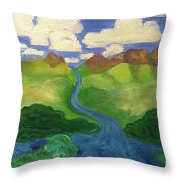 Sky River To Sea Throw Pillow
