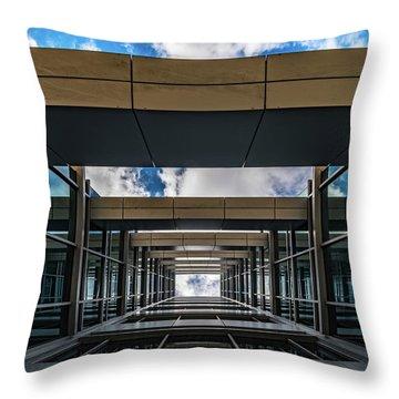 Throw Pillow featuring the photograph Sky Tunnel by Randy Scherkenbach