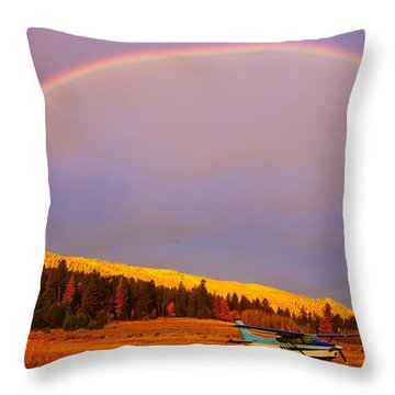 Skylane Rainbow Throw Pillow