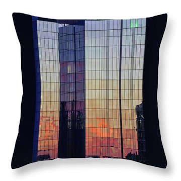 Skyscraper Sunset Throw Pillow