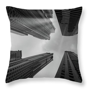 Skyscrapers Reach The Heaven Throw Pillow