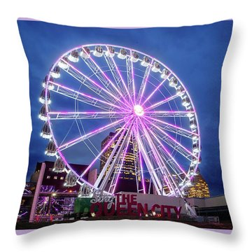 Skystar Ferris Wheel Throw Pillow