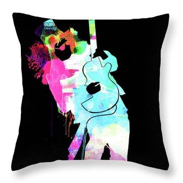 Slash Watercolor II Throw Pillow