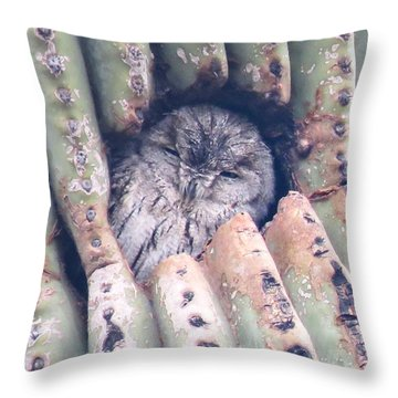 Sleepy Eye Throw Pillow