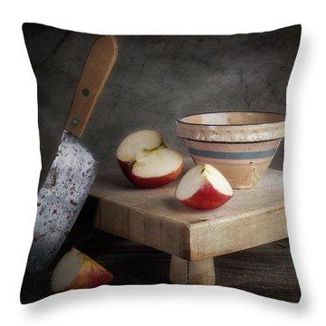 Sliced Apple Throw Pillow