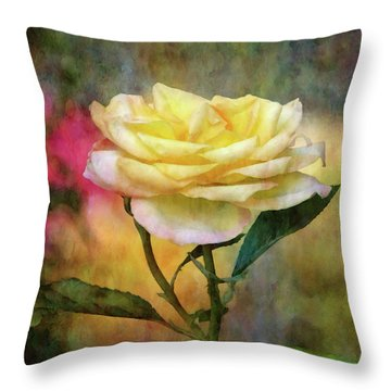 Slight Yellow 5570 Idp_2 Throw Pillow