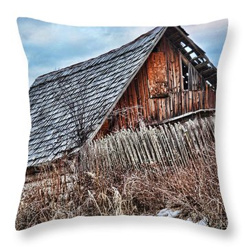 Slippery Slope Throw Pillow