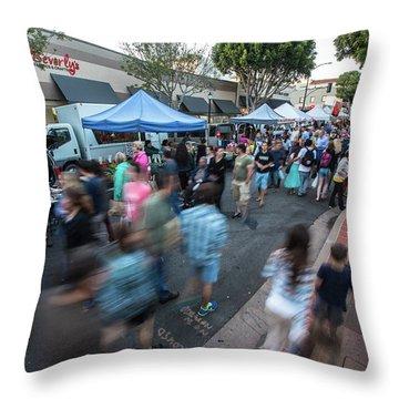 Slo Farmers Market Throw Pillow